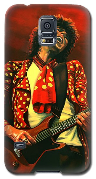 Rolling Stone Magazine Galaxy S5 Case - Keith Richards Painting by Paul Meijering
