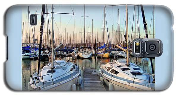 Kemah Boardwalk Marina Galaxy S5 Case by Savannah Gibbs