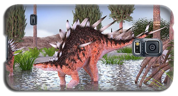 Kentrosaurus Pair In Water Galaxy S5 Case