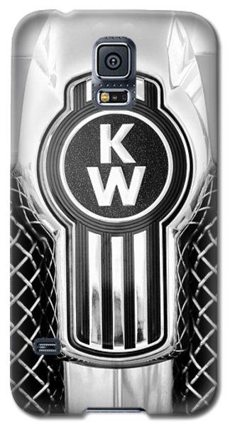 Kenworth Truck Emblem -1196bw Galaxy S5 Case