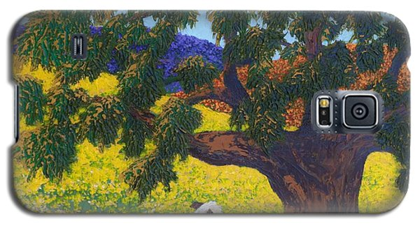Galaxy S5 Case featuring the painting Kern County Cow by Katherine Young-Beck