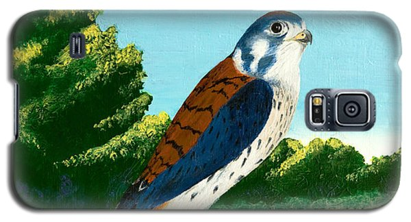 Kestrel And Flowers Galaxy S5 Case