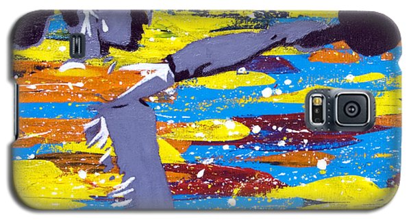 Galaxy S5 Case featuring the painting Kettlebell by Denise Deiloh