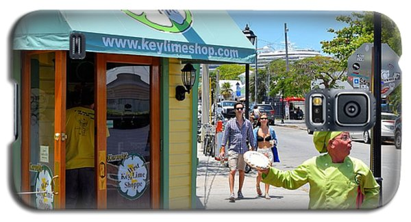 Key Lime Pie Man In Key West Galaxy S5 Case by Janette Boyd