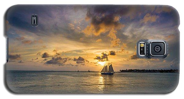 Key West Florida Sunset Mallory Square Galaxy S5 Case