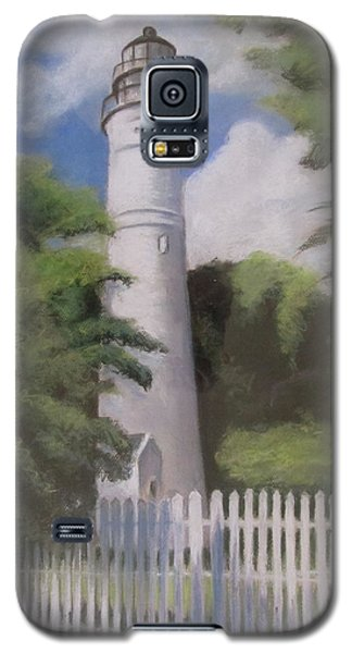 Galaxy S5 Case featuring the painting Key West Lighthouse by Melinda Saminski