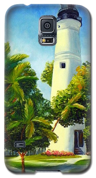 Galaxy S5 Case featuring the painting Key West Lighthouse by Shelia Kempf