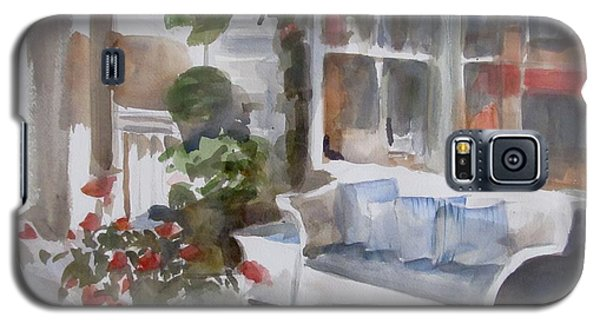 Galaxy S5 Case featuring the painting Key West Porch by Melinda Saminski