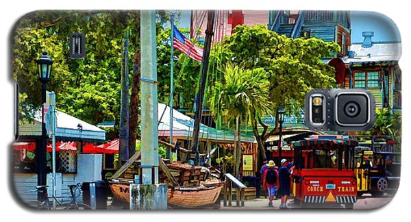 Galaxy S5 Case featuring the photograph Key West Square by Pamela Blizzard