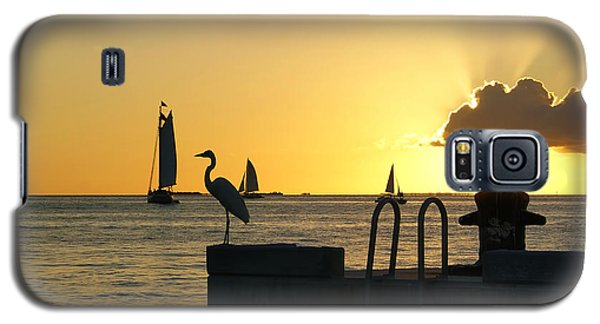 Galaxy S5 Case featuring the photograph Key West Sunset by Olga Hamilton