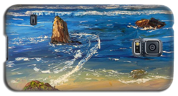Galaxy S5 Case featuring the painting Kiama Beach by Pamela  Meredith