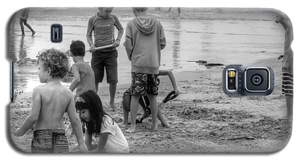 Kids At Beach Galaxy S5 Case