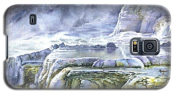 Killdeer Palisades - Mammoth Hot Springs Galaxy S5 Case