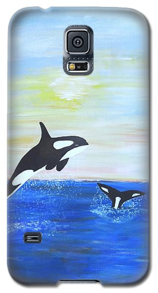 Killer Whales Leaping Galaxy S5 Case