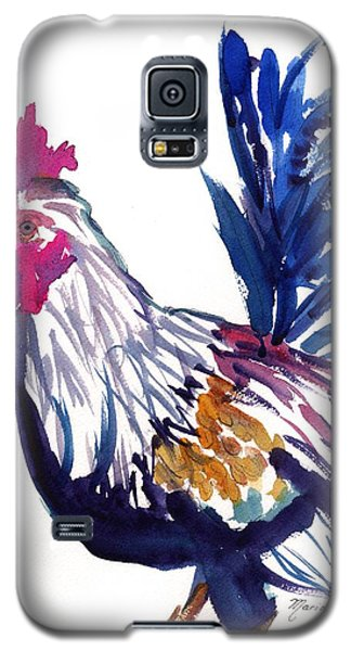 Galaxy S5 Case featuring the painting Kilohana Rooster by Marionette Taboniar