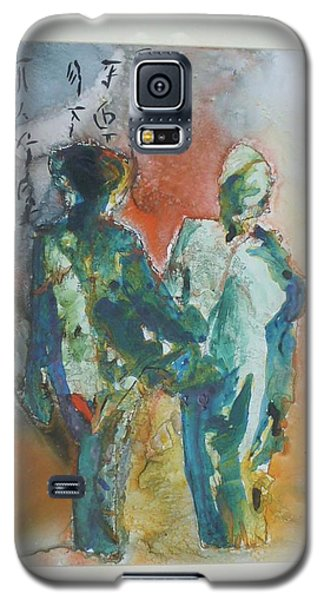 Galaxy S5 Case featuring the painting Kimono Enchantment by Keith Thue
