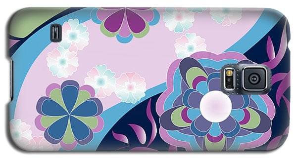 Kimono-inspired Summer Flowers By The River Galaxy S5 Case