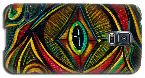 Galaxy S5 Case featuring the painting Kindness Spirit Eye by Deborha Kerr