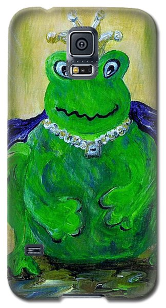 Galaxy S5 Case featuring the painting King For A Day by Eloise Schneider