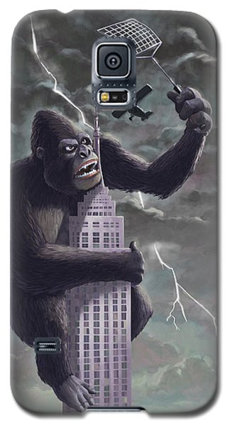 King Kong Plane Swatter Galaxy S5 Case by Martin Davey