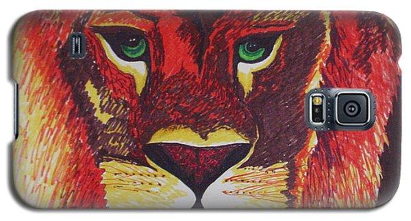 Lion In Orange Galaxy S5 Case