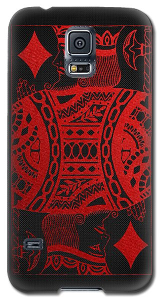 King Of Diamonds In Red On Black Canvas   Galaxy S5 Case