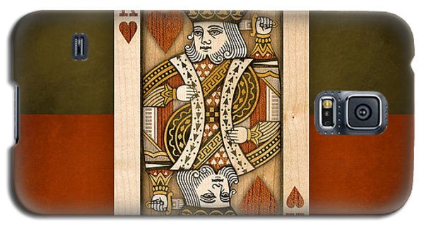 King Of Hearts In Wood Galaxy S5 Case
