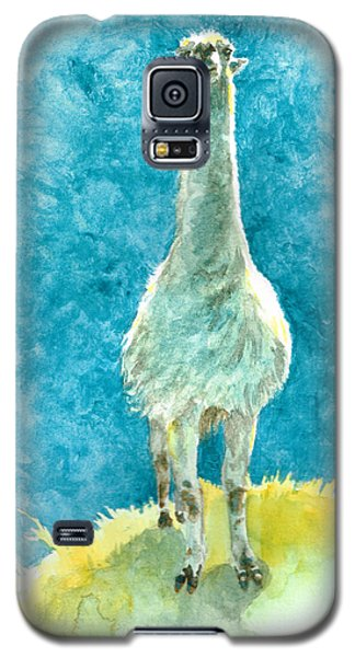 Galaxy S5 Case featuring the painting King Of The Hill by Andrew Gillette