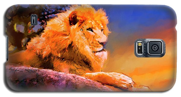 Galaxy S5 Case featuring the painting King Of The Jungle by Ted Azriel