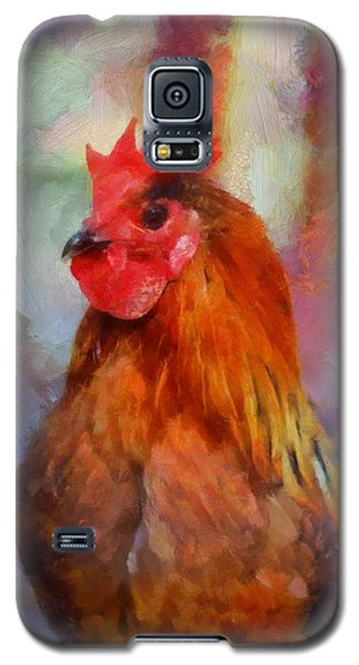 Galaxy S5 Case featuring the painting King Rooster by Kai Saarto