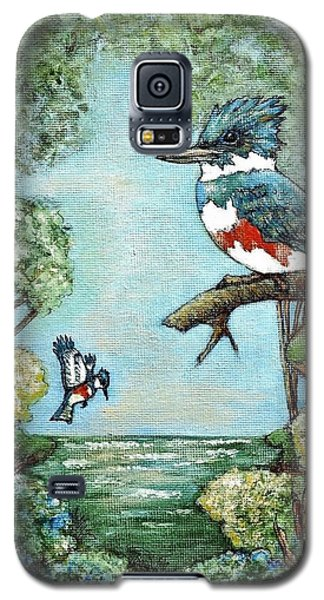 Galaxy S5 Case featuring the painting Kingfishers Cove by VLee Watson