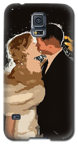 Galaxy S5 Case featuring the painting Kiss by Catherine Lott