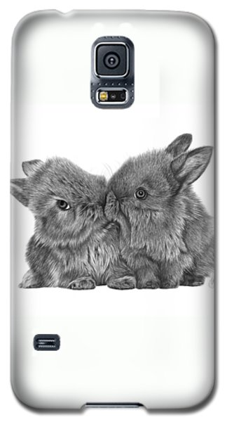 Kissing Bunnies - 035 Galaxy S5 Case by Abbey Noelle