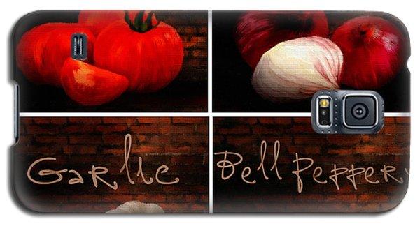 Kitchen Ingredients Collage II Galaxy S5 Case by Lourry Legarde
