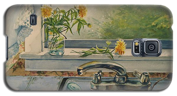 Galaxy S5 Case featuring the painting Kitchen Sink by Joy Nichols
