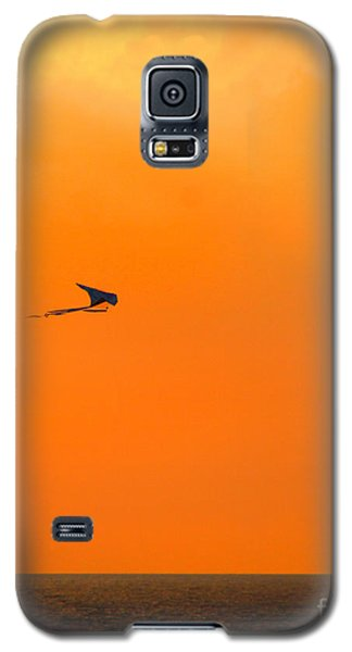Kite-flying At Sunset Galaxy S5 Case by Mariarosa Rockefeller