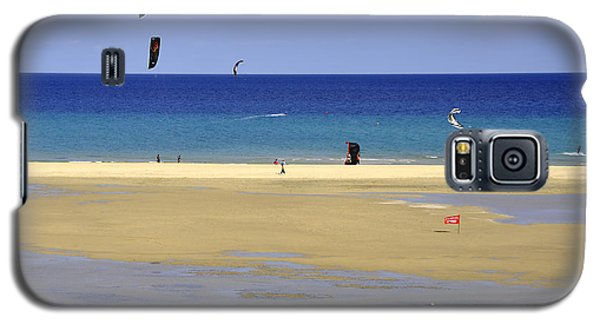 Galaxy S5 Case featuring the photograph Kitesurfing Spot And Beach View At Melia Gorionez  by Julis Simo