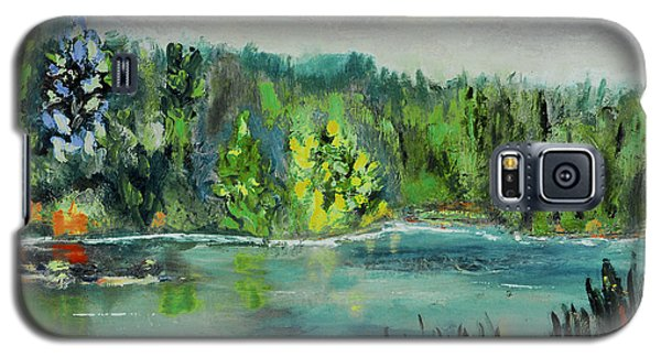 Galaxy S5 Case featuring the painting Kittatiny Pond by Michael Daniels