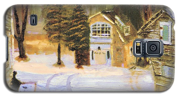 Galaxy S5 Case featuring the painting Kittattiny Park Ranger Residence by Michael Daniels