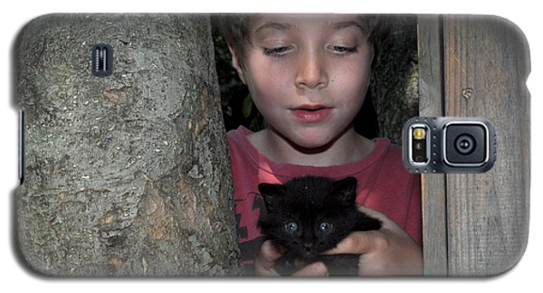 Kitten And Child Galaxy S5 Case