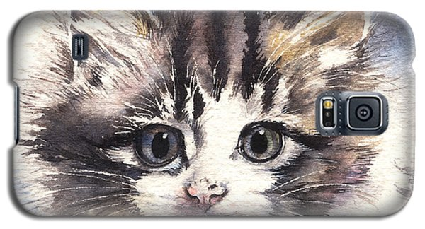 Galaxy S5 Case featuring the painting Kitten Lily by Sandra Phryce-Jones
