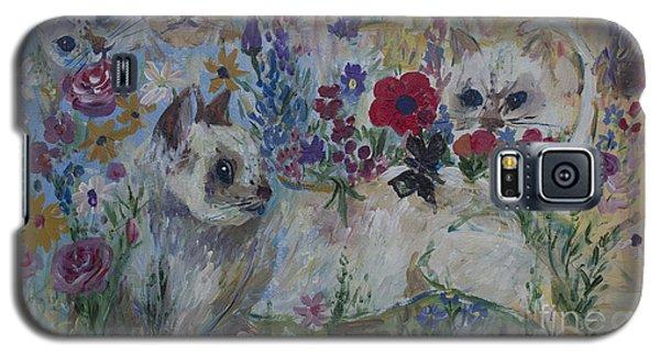 Kittens In Wildflowers Galaxy S5 Case