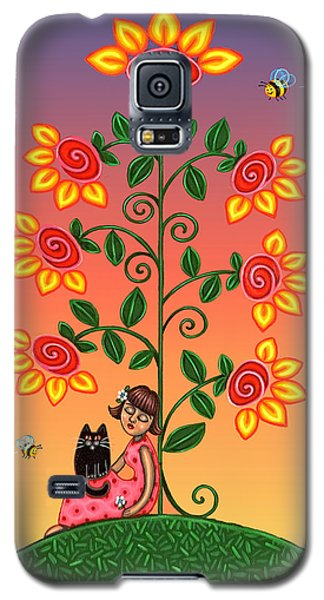Kitty And Bumblebees Galaxy S5 Case