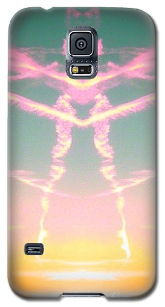 Kitty Cat Contrail Ballerina Galaxy S5 Case by Karen Newell