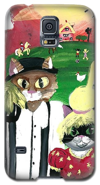 Galaxy S5 Case featuring the painting Kitty Farmer by Artists With Autism Inc