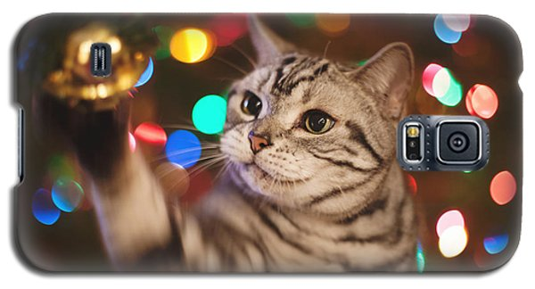 Kitty In The Lights Galaxy S5 Case