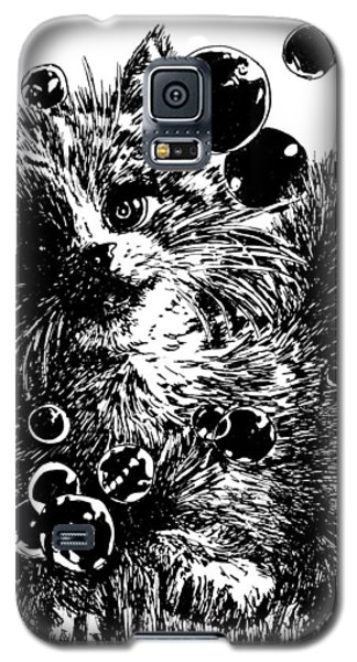 Galaxy S5 Case featuring the painting Kitty by Shabnam Nassir