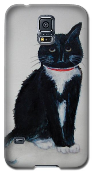 Kitty - Painting Galaxy S5 Case by Veronica Rickard