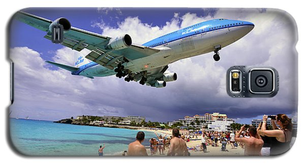 Klm Landing At St Maarten 2  Galaxy S5 Case