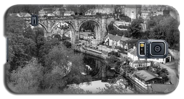 Knaresbrough Viaduct Black And White Reflection Galaxy S5 Case